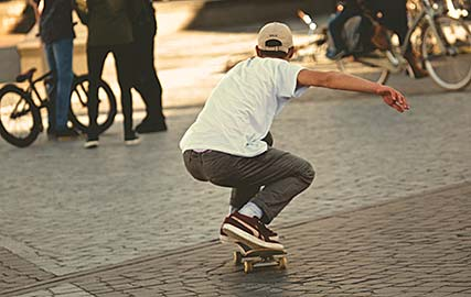 Erdre Audio en skateboard
