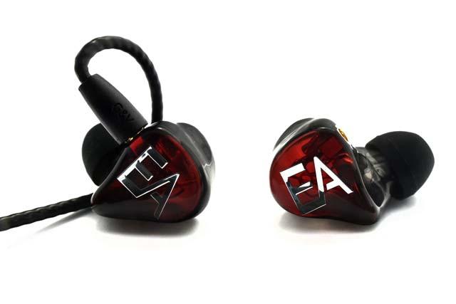 écouteurs H202RN  en série limitée Erdre Audio (corps noir et plaque rouge foncé translucides)
