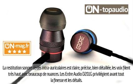 On-Mag : test des écouteurs intra-auriculaires Erdre Audio D201G.