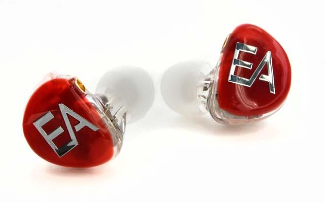 Ecouteurs intra-auriculaires EA502 trois voies cinq haut-parleurs de Erdre Audio de type in-ear monitors (rouge)