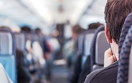 écouteurs Erdre Audio dans le train