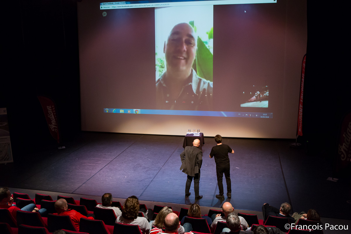 Duplex with Christophe Barrière-Varju in Australia. He was just awarded by the audience.