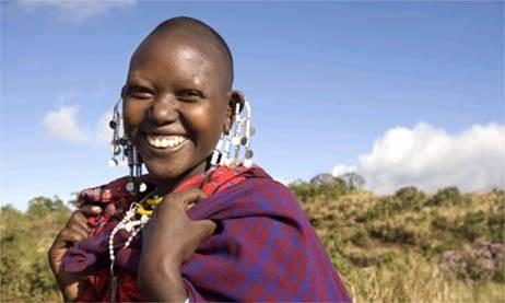 I am beautiful Laughing Masai girl thank you