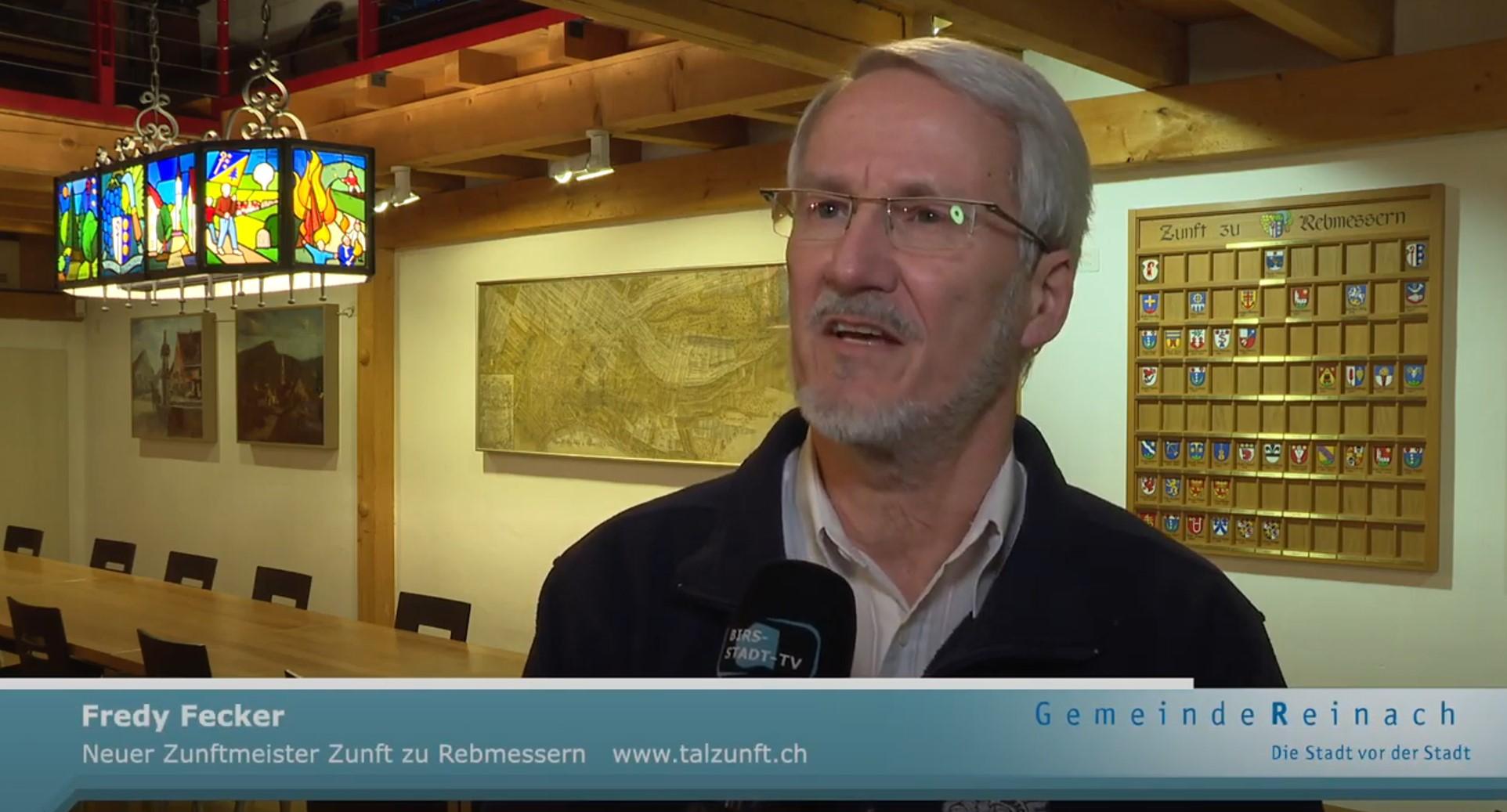 Zunftmeister Fredy Fecker im Birsstadt TV Reinach