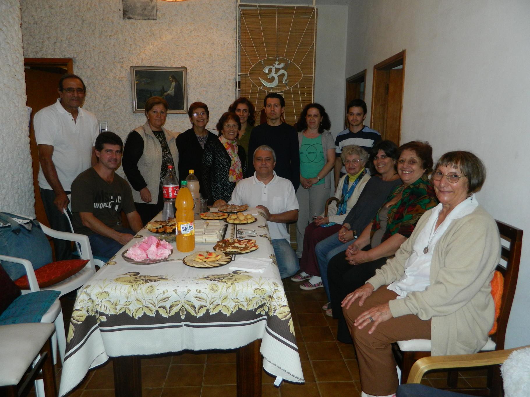 Con amigos y familia - Uruguay 2014