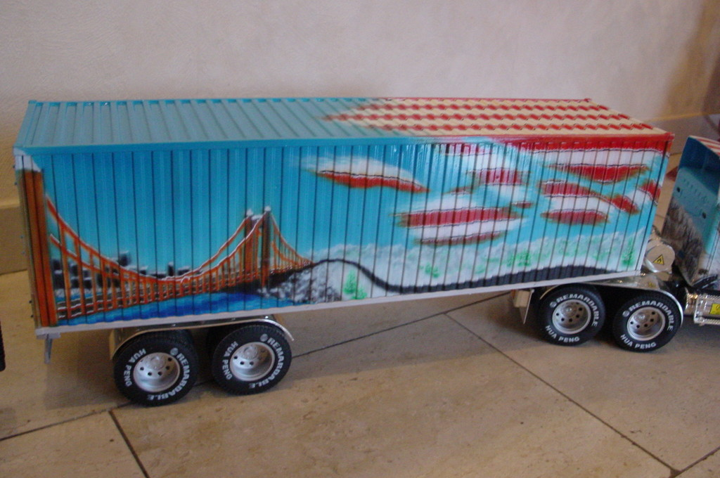 Airbrush US Truck Modell Detail