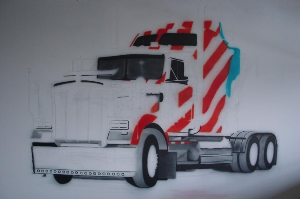 """Airbrush """"Entstehung eines Wandbildes"""""""