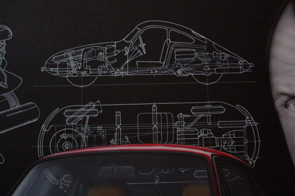 """Wandbild """"Porsche"""" Detail"""