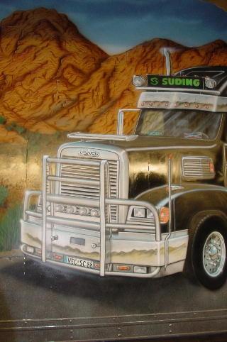 "Airbrush Truck ""Western"" Detail"