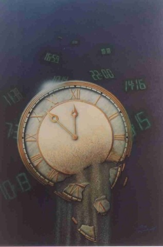 """Airbrush Wandbild """"Keine Zeit"""""""
