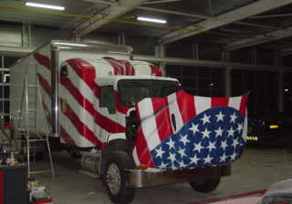 "Airbrush Truck ""Big Apple"" Front"