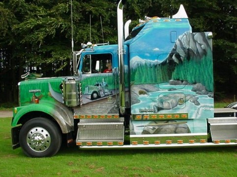 "Airbrush Truck ""The Rock"""