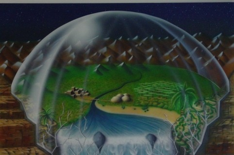 Airbrush Wandbild 2Dreamworld""