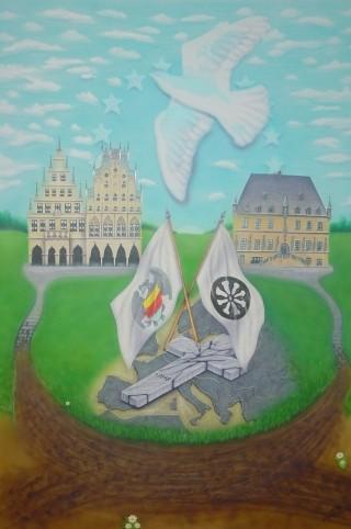 """Airbrush Wandbild """"Westfälischer Friede"""""""