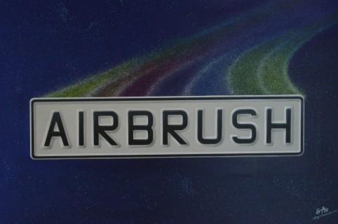 """Airbrush Wandbild """"Airbrush Schild"""""""