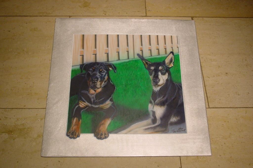 """Airbrush Wandbild """"Hunde"""""""