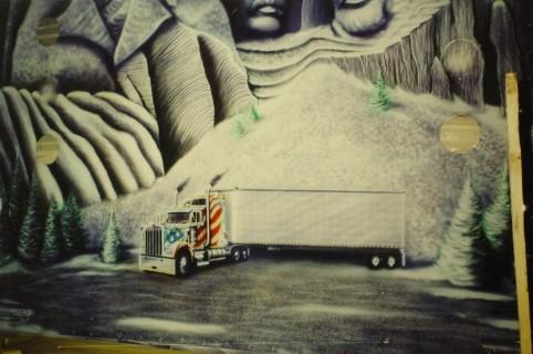 "Airbrush Truck ""Snowflake"" Detail"