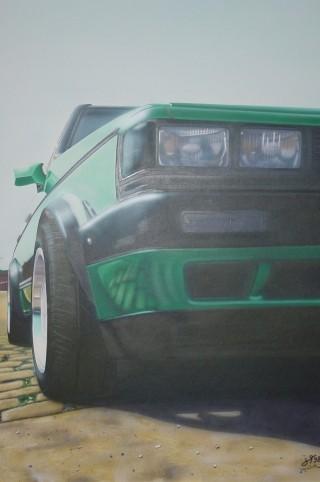 "Airbrush Wandbild ""Jetta Froschperspektive"""