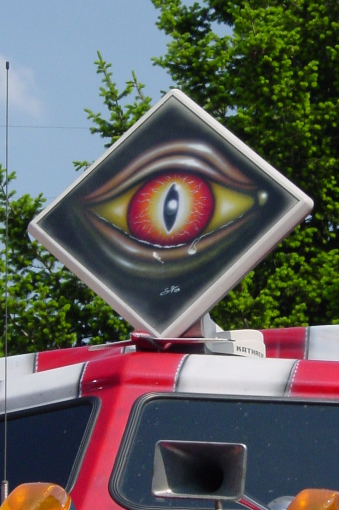 "Airbrush ""The Big Eye"" Detail"