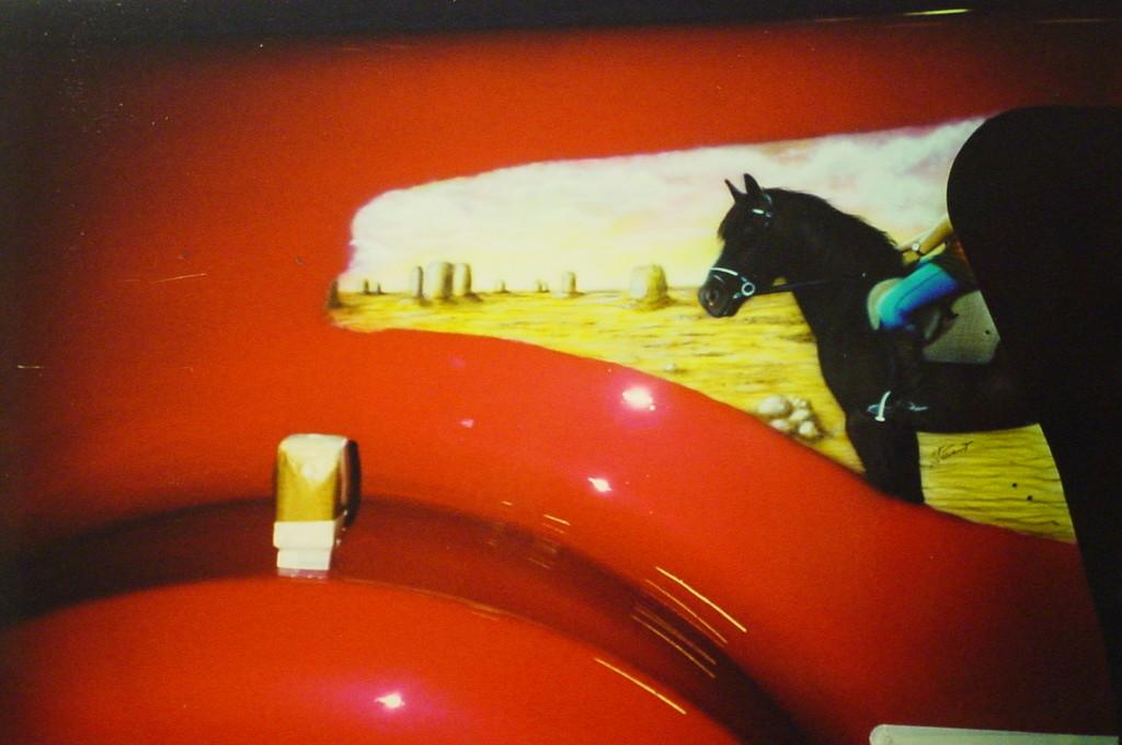 "Airbrush Truck ""Pferde"" Detail"