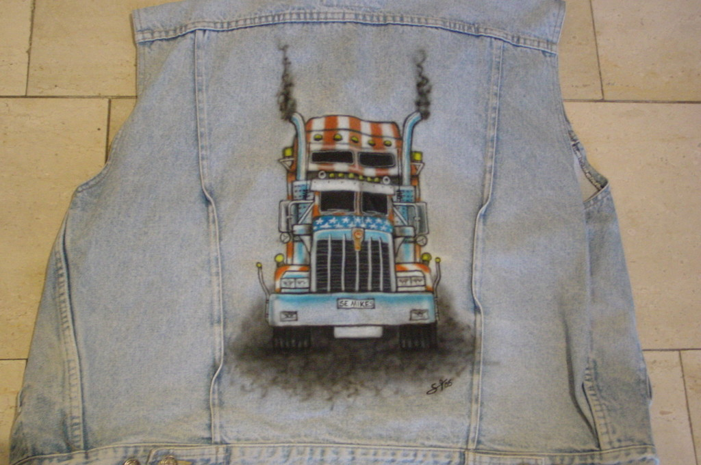 Airbrush Jeansweste