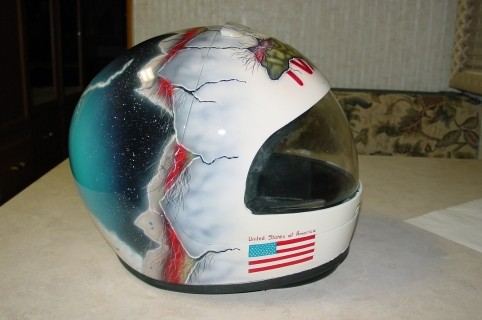 Airbrush Helm 2