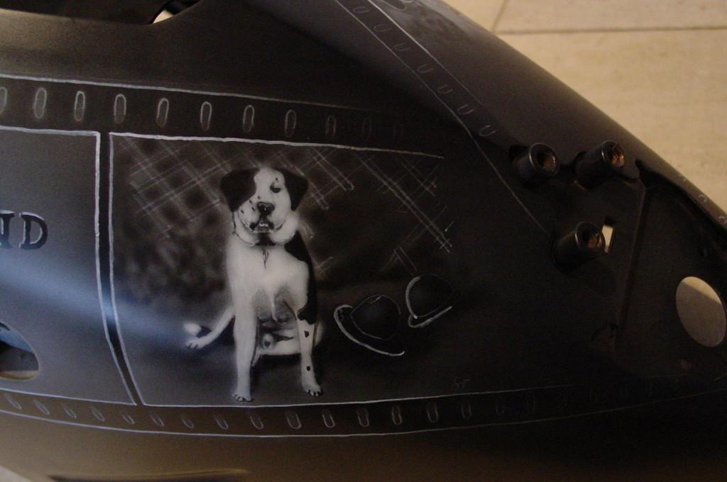 "Airbrush Motorrad ""Laurel & Hardy"" Detail"