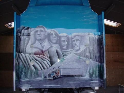 "Airbrush Truck ""Snowflake"" Detail Rückseite"