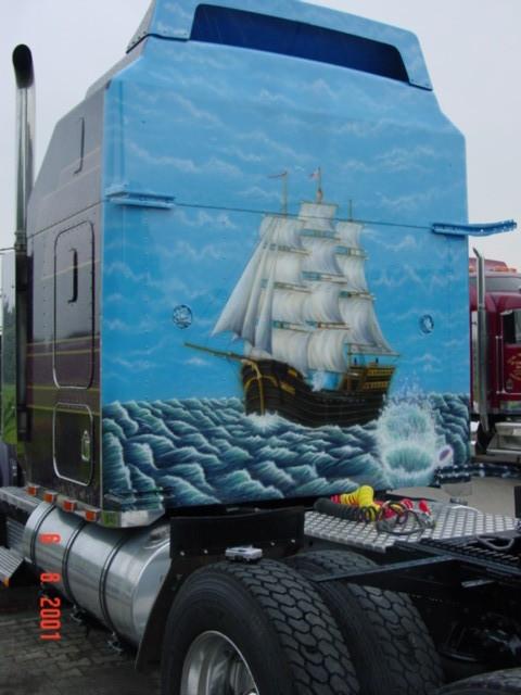 "Airbrush Truck ""Segelschiff"""