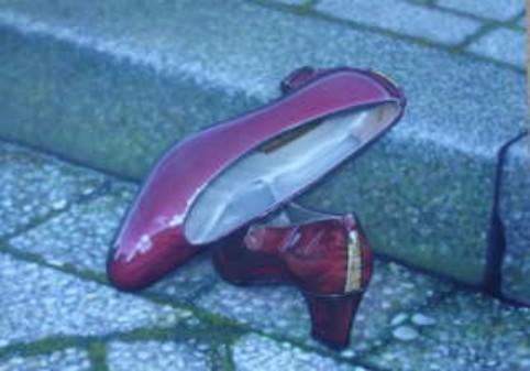 """Airbrush Wandbild """"Rote Schuhe"""""""