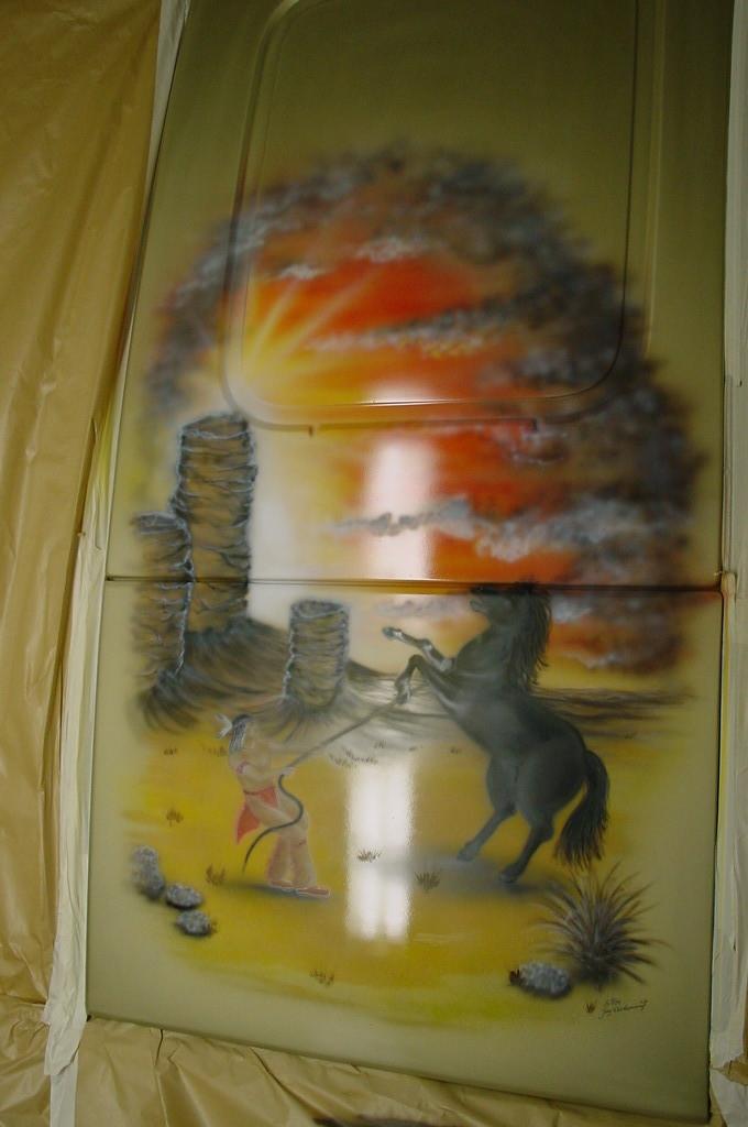 "Airbrush Truck ""Indianer"" Detail"