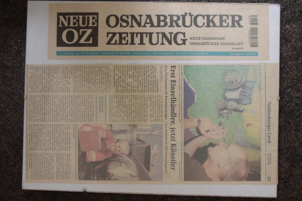 Neue Osnabrücker Zeitung    31.Juli.1999