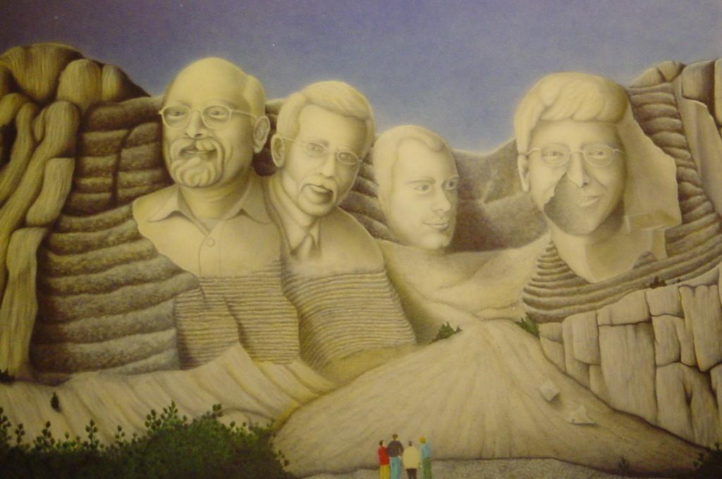 "Airbrush Wandbild ""Mount Gato"""
