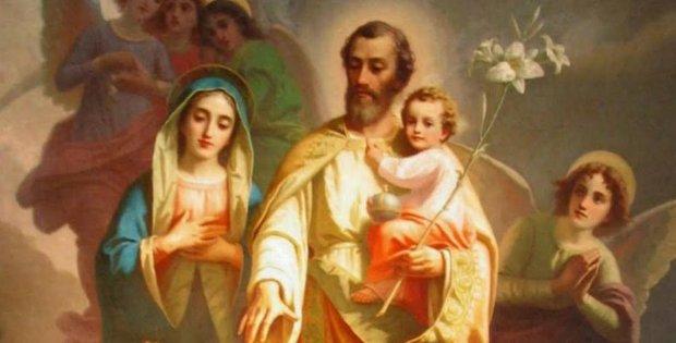 Resultado de imagen para san josé postrado ante el Niño Jesús en oración