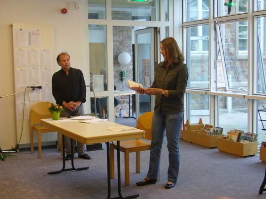 """Kulturdezernentin und Schirmherrin Andrea Manz begrüßte die Gäste und hielt auch eine schöne """"literarische Rede""""!"""