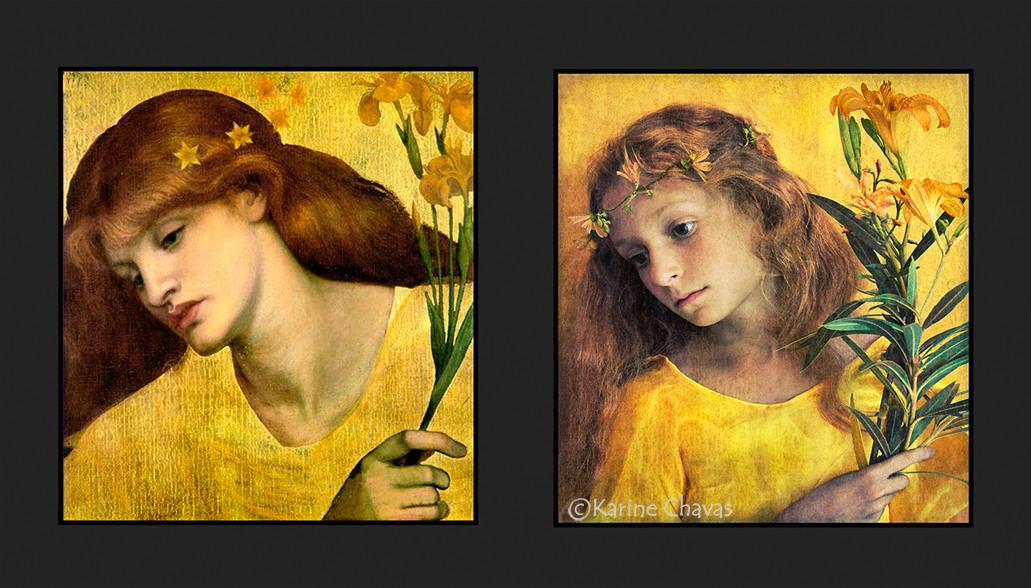 Sancta Lilia - Tableau de Rossetti :  MLF: Mouvement de Libération de la Fleur