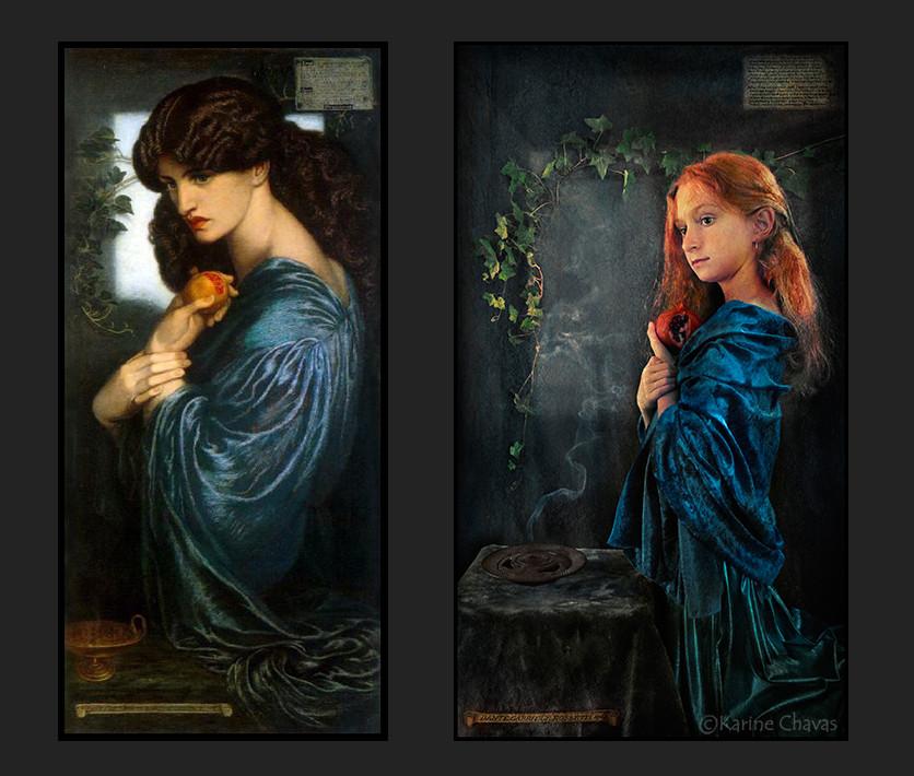 Proserpine - Tableau de Gabriel Charles Dante Rossetti/version classique
