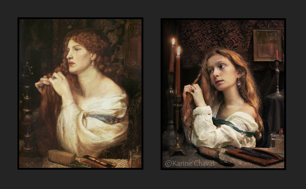 """d'après Rossetti """"Aurelia"""" (Fazio's mistress) - version classique"""