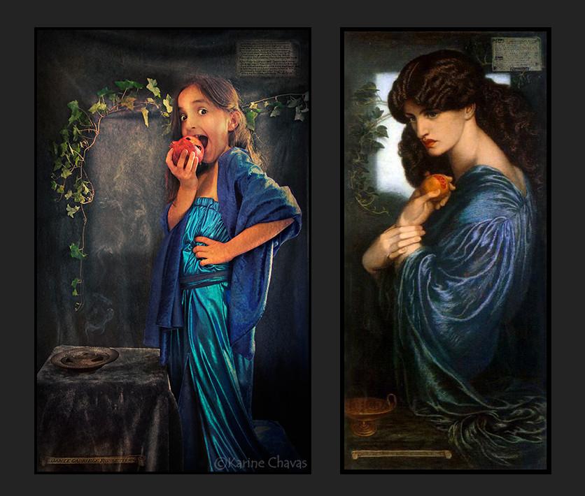 Proserpine - Tableau de Gabriel Charles Dante Rossetti/version moins classique