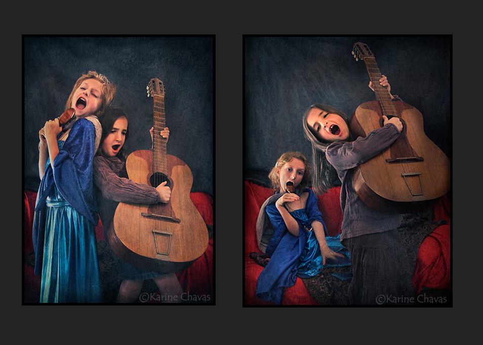 Duo de femmes - Tableau de Gabriel Charles Dante Rossetti/versions déjantées