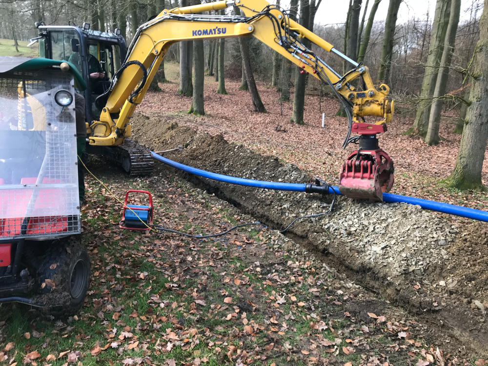 Verlegung Hauptleitung Osnabrücker Golf Club, Erneuerung der kompletten Beregnungsanlage