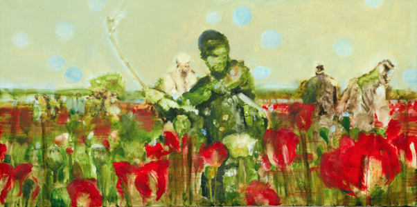 Poppies 60x120 cm Oil/Canvas 2006
