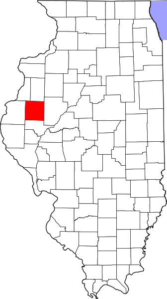 McDonough County is the red square