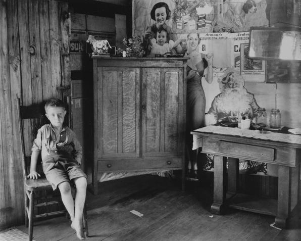 © Walker Evans, Coalminer´s House, Scott´s Run, bei Morgantown, West Virginia, 1935/36, LC
