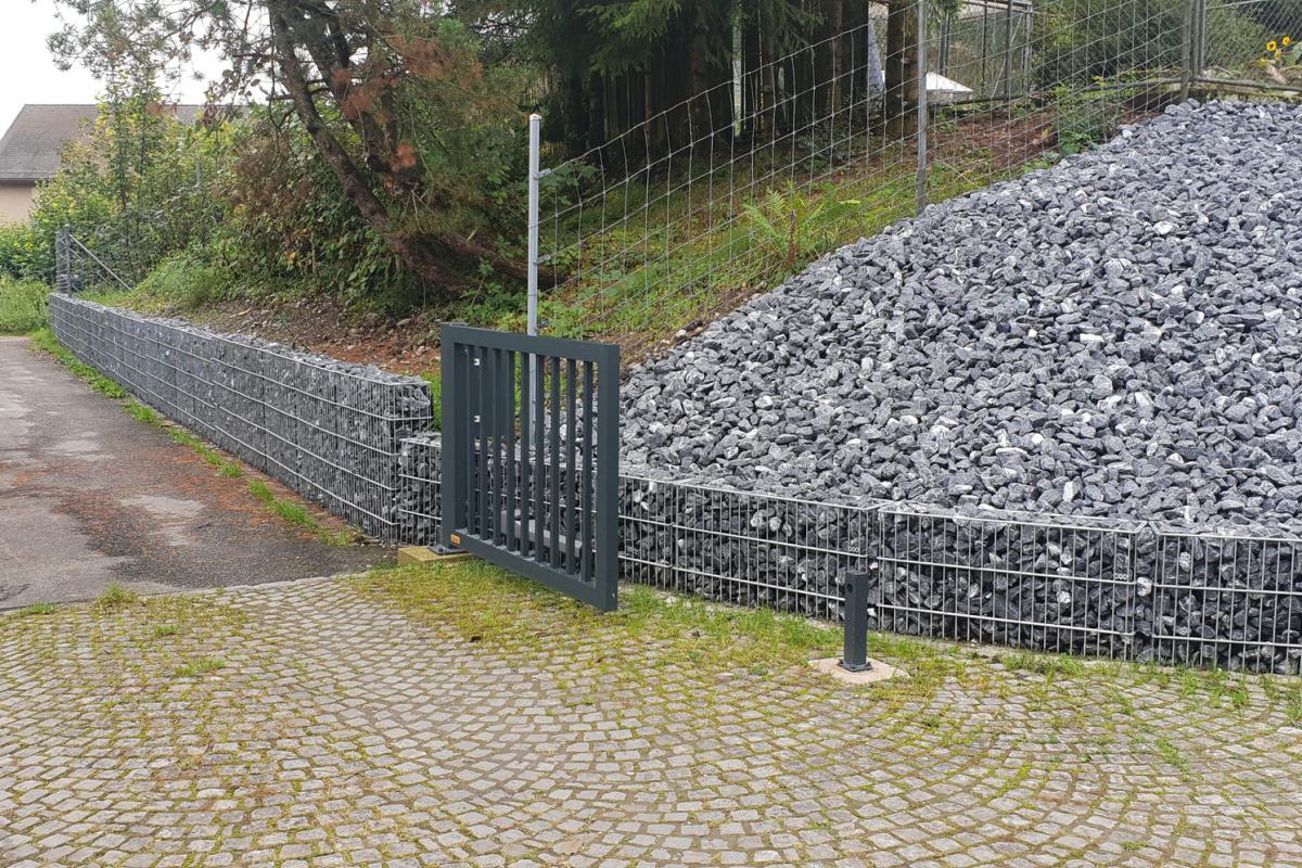 Gabionenstützmauer