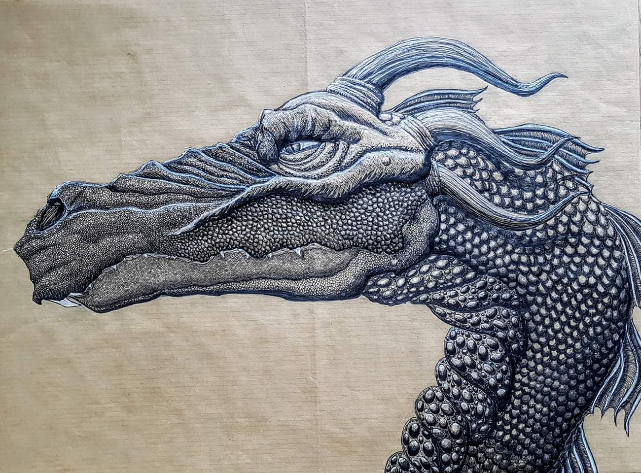 Drachenzeichnung