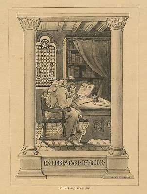 Ex Libris für Carl de Boor von Manon de Boor