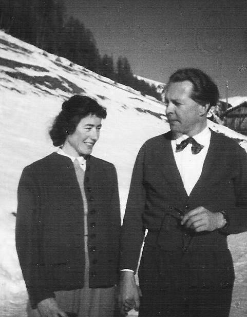 Willy Schürer Jugendfreund mit 1.Frau Hannah von Gosen in Graubünden 1949