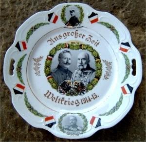 Gedenkteller mit Bildnis O.W's 1915