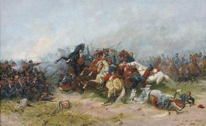 Hermann de Boor, Schlachtenbild aus dem dt.-frz. Krieg 1871